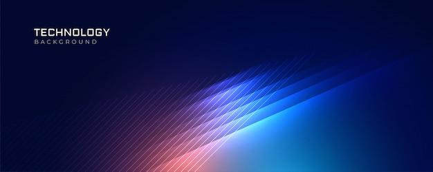Stylowa niebieska technologia świeci tle