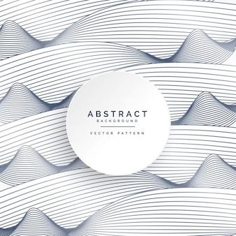Stylowe białe tło z abstrakcyjnych linii falistych