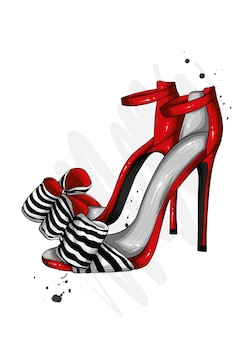 Stylowe damskie buty na wysokim obcasie