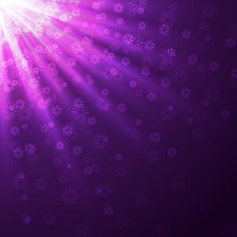 Stylowe fioletowe promienie tło