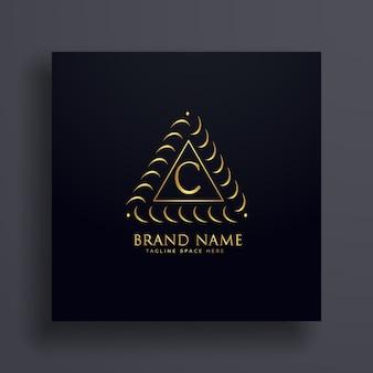 Stylowe litera c premium koncepcji projektowania logo
