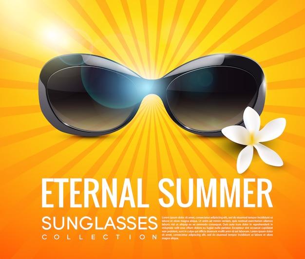 Stylowe nowoczesne okulary przeciwsłoneczne szablon