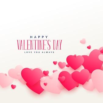 Stylowe różowe serce miłość tło na walentynki