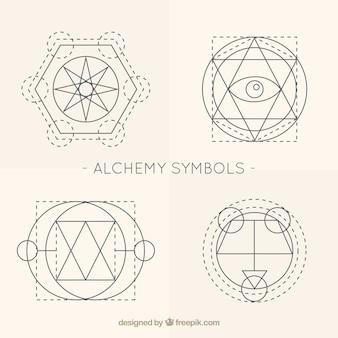 Stylowe symbole alchemii