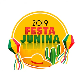 Stylowe tło dekoracyjne festa junina