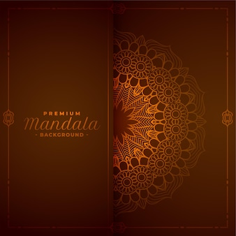 Stylowe tło dekoracyjne mandali