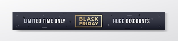 Stylowy baner premium lub nagłówek na czarny piątek.