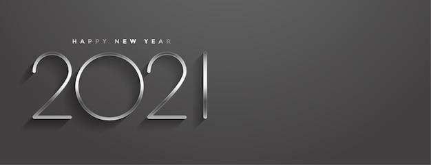 Stylowy baner w stylu minimalistycznym szczęśliwego nowego roku