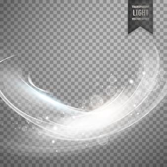 Stylowy biały przezroczysty efekt świetlny tła