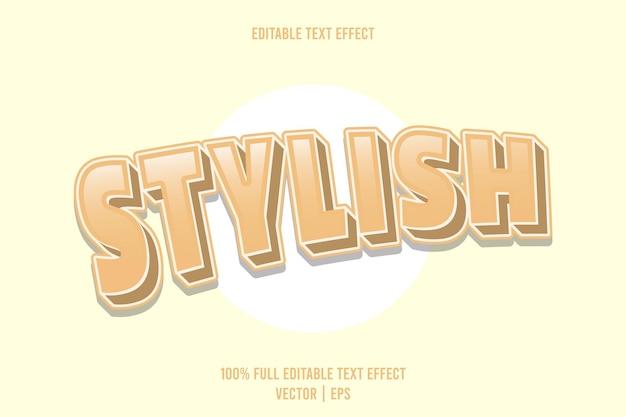 Stylowy, edytowalny efekt tekstowy 3 wymiarowy tłoczony styl kreskówek