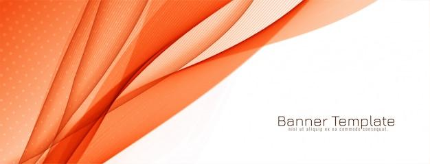 Stylowy, elegancki design banner fali