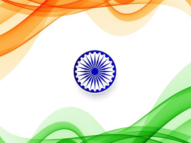 Stylowy falisty indianina wzór tła