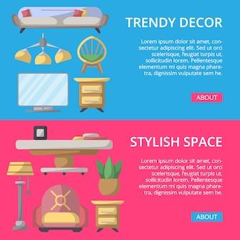 Stylowy i przytulny zestaw przestrzeni domowej