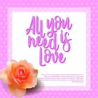 Stylowy kartkę z życzeniami z kwiatem