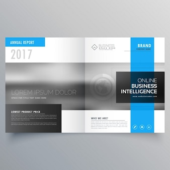 Stylowy magazyn pokrywa strona szablon projektowanie bifold projekt broszury