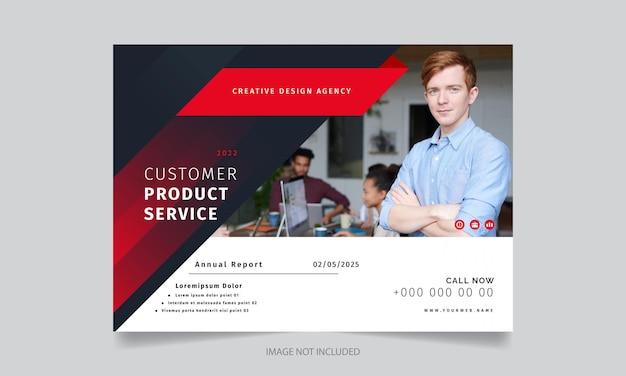 Stylowy nowoczesny kreatywny szablon projektu broszury