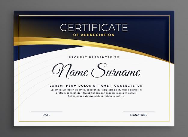Stylowy, nowoczesny wzór certyfikatu