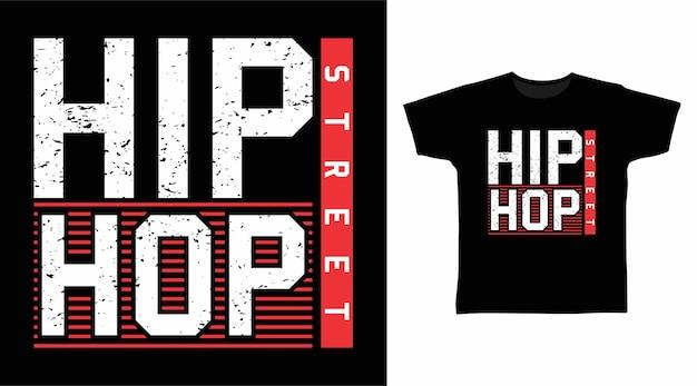 Stylowy projekt koszulki hip hopowej ulicznej typografii