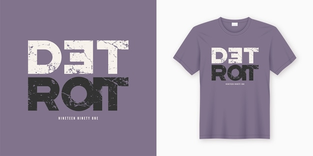 Stylowy projekt koszulki i odzieży detroit. druk, typografia, plakat. globalne próbki.