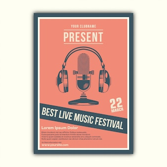 Stylowy projekt plakatu muzycznego