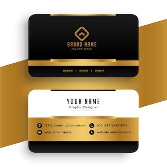 Stylowy projekt szablonu złotej wizytówki