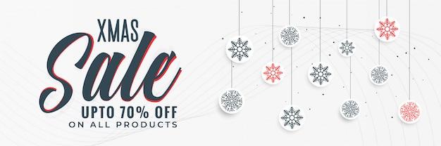 Stylowy projekt transparent świąteczna sprzedaż