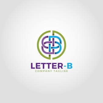 Stylowy szablon logo litera b.