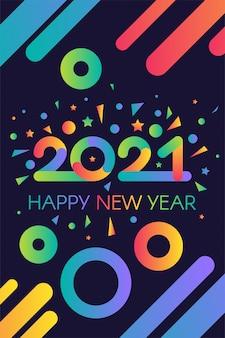Stylowy szablon szczęśliwego nowego roku 2021