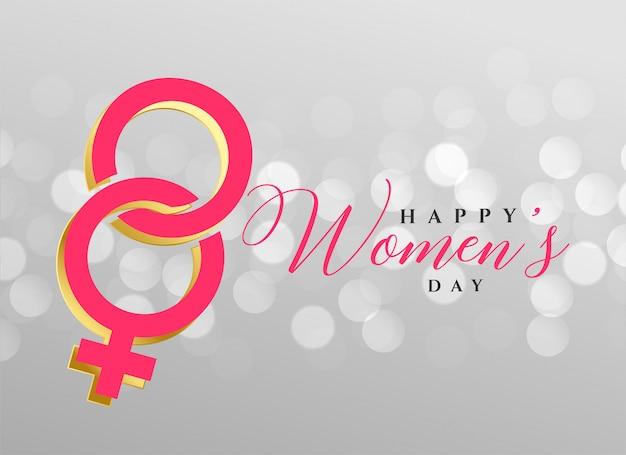 Stylowy szczęśliwy dzień kobiet projekt tła