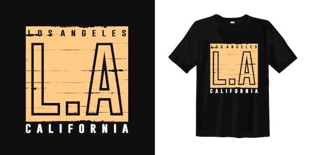 Stylowy t-shirt z nadrukiem los angeles california