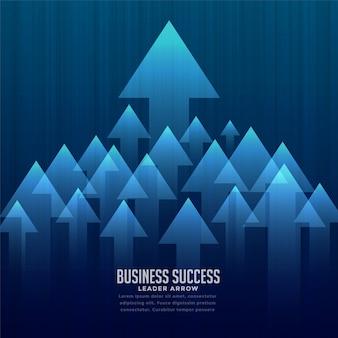 Stylowy tło lider biznesu