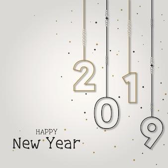 Stylowy, wielofunkcyjny nowy rok elegancki tło