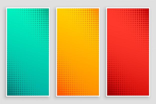 Stylowy zestaw banerów półtonowych