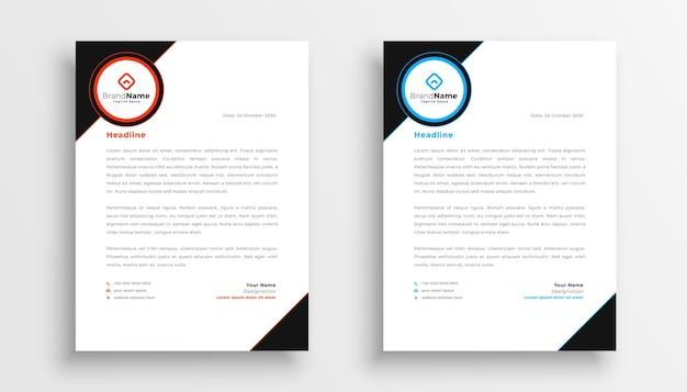 Stylowy zestaw szablonów papieru firmowego