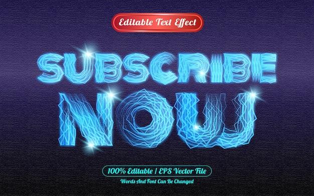 Subskrybuj teraz edytowalny efekt świetlny z motywem świetlnym