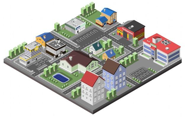 Suburban concept izometryczny