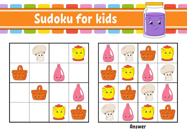 Sudoku dla dzieci.