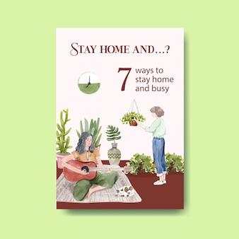Sugestie dotyczące działań podczas kwarantanny w covid-19 podczas pobytu w domu