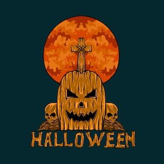 Sugestywna ulotka na halloween dla rozrywki
