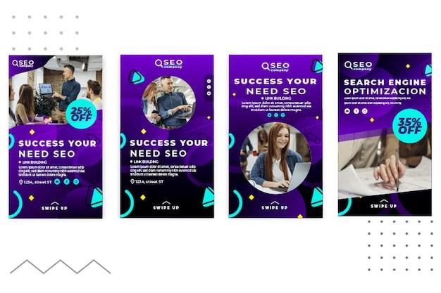Sukces, którego potrzebujesz seo, historie z mediów społecznościowych
