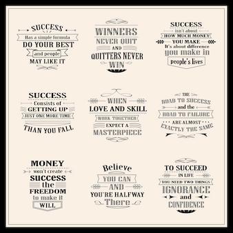 Sukces motywacyjne i inspirujące cytaty na białym tle na beżowym tle