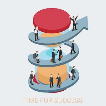Sukces w biznesie ilustracji