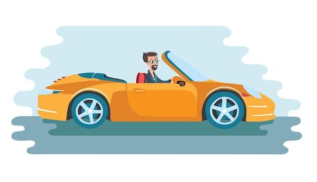 Sukcesy biznesmen w luksusowym samochodzie