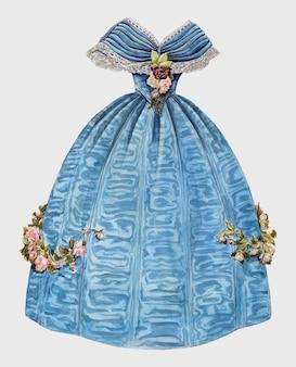 Sukienka vintage ilustracji wektorowych, zremiksowane z grafiki melita hofmann.