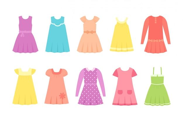 Sukienki dla dzieci, ubrania dla dzieci, zestaw odzieży dziecięcej, modele dla dzieci,
