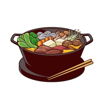 Sukiyaki to typowe jedzenie z japonii