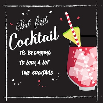 Summer cocktail party poster.