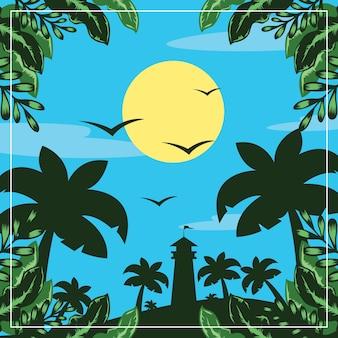 Summer forrest illustration