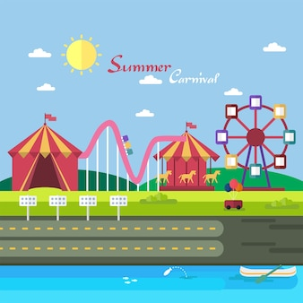 Summer karnawał tło projektu