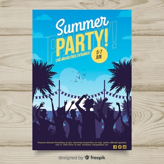 Summer party plakat szablon